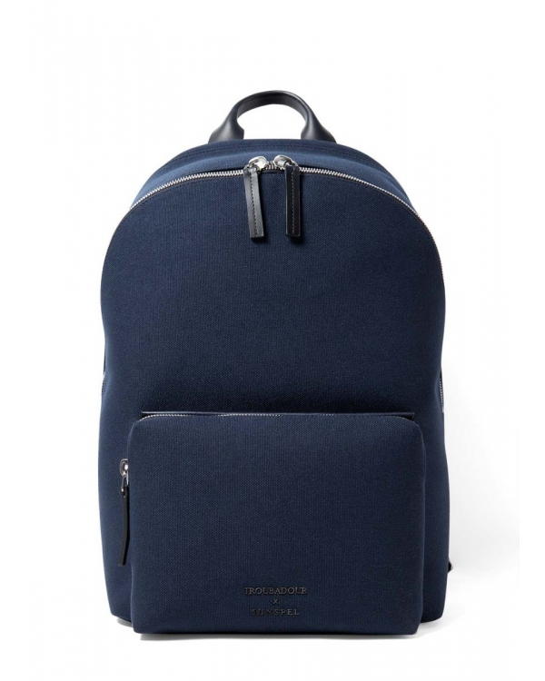 Troubadour and Sunspel Technical Canvas Backpack in Navy