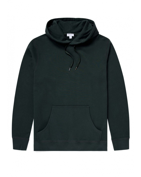 Men's Cotton Loopback Overhead Hoody in Forest