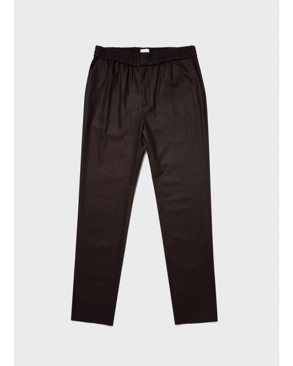 Wool Cashmere Flannel Drawstring Trouser