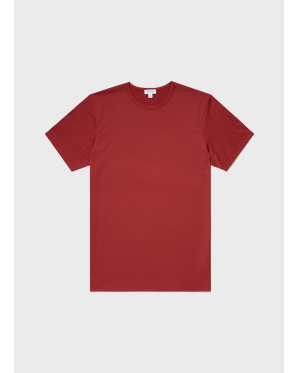 Men's Classic Cotton T-Shirt in Brick Red