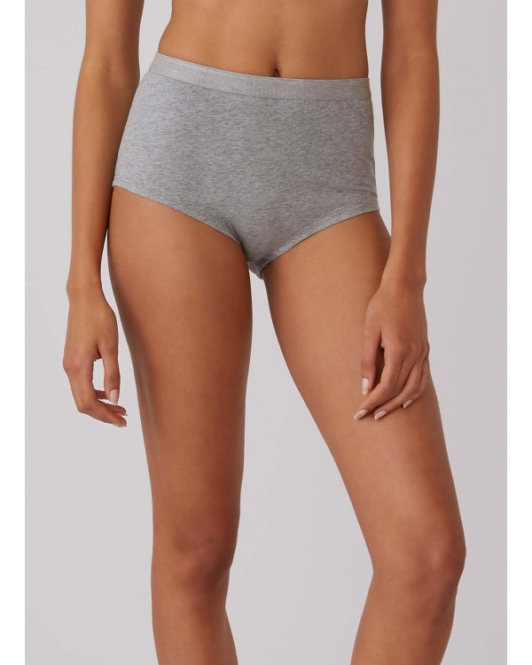 Women's Stretch Cotton Gym Pant in Grey Marl