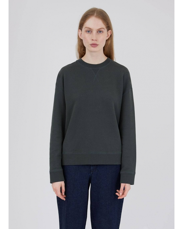 Women's Cotton Loopback Relaxed Sweatshirt in Forest