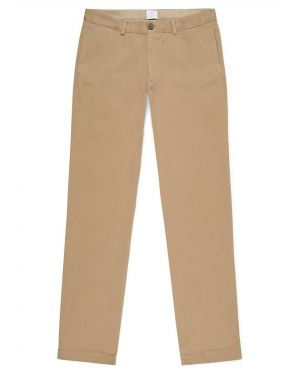 Men's Cotton Chino Trousers in Stone