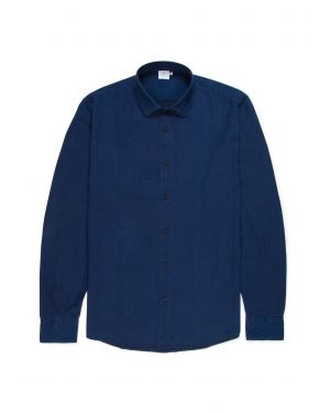 Men's Cotton Oxford Shirt in Indigo