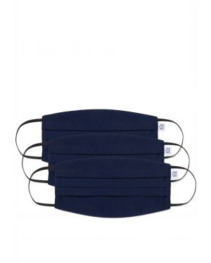 Sunspel Cotton Face Mask 3-Pack in Navy