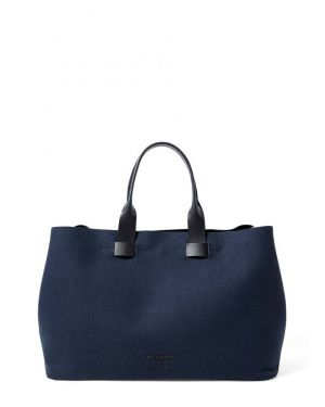 Troubadour and Sunspel Technical Canvas Tote Bag in Navy
