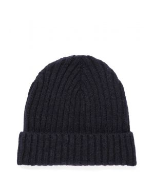 Lambswool Rib Hat in Navy
