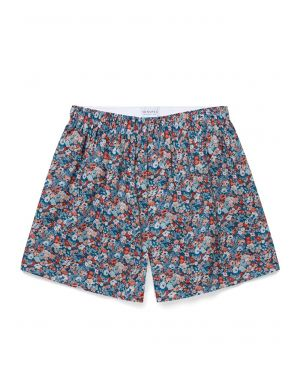 Men's Printed Cotton Boxer Shorts in Liberty Thorpe Bloom