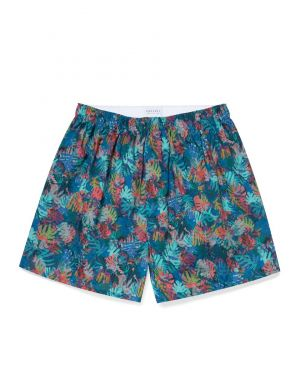Men's Printed Cotton Boxer Shorts in Liberty Palm Leaf