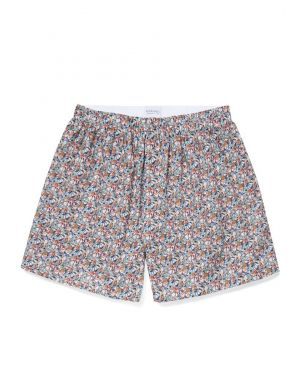 Men's Printed Cotton Boxer Shorts in Liberty Garden Flowers