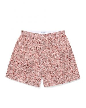 Men's Printed Cotton Boxer Shorts in Liberty Christmas Floral