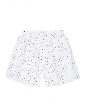 Men's Printed Cotton Boxer Shorts in Valentines White
