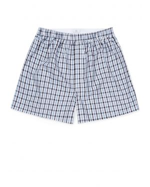 Men's Cotton Boxer Short in Gingham Blue