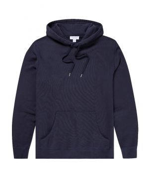 Men's Cotton Loopback Overhead Hoody in Navy