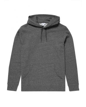 Men's Cotton Loopback Overhead Hoody in Charcoal Twist