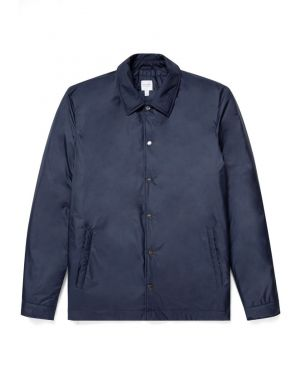 Men's Padded Coach Jacket in Navy