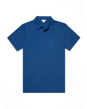 Men's Cotton Riviera Polo Shirt in Ink