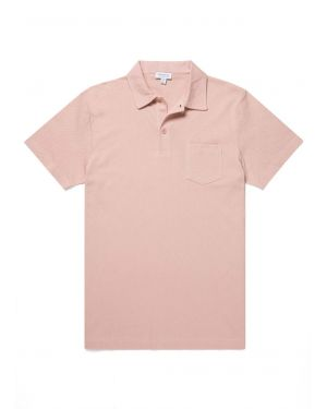 Men's Cotton Riviera Polo Shirt in Dusty Pink