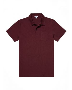 Men's Cotton Riviera Polo Shirt in Oxblood