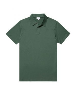 Men's Cotton Jersey Polo Shirt in Pine