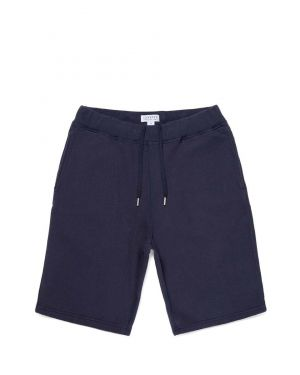 Men's Cotton Loopback Shorts in Navy