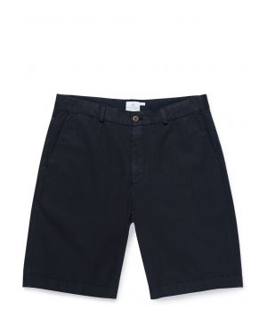 Men's Stretch Cotton Twill Chino Shorts in Navy