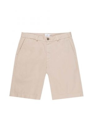 Men's Stretch Cotton Twill Chino Shorts in Light Stone
