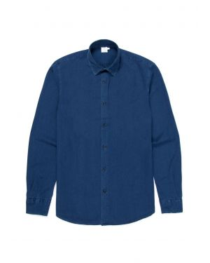 Men's Cotton Textured Shirt in Indigo