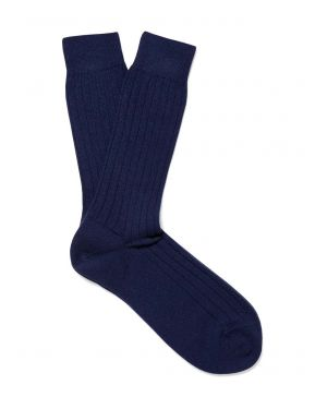 Cashmere Socks in Navy