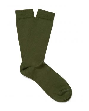 Men's Long Staple Cotton Socks in Pine