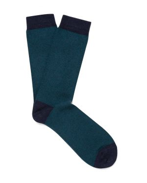 Men's Organic Cotton Socks in Dark Petrol Twist