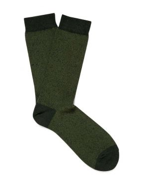 Men's Organic Cotton Socks in Pine/Basil Twist