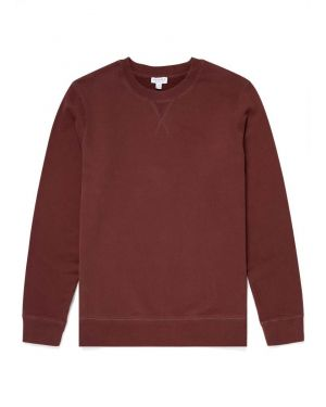 Men's Cotton Loopback Sweatshirt in Merlot