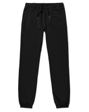 Men's Loopback Cotton Track Pant in Black