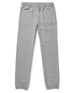 Men's Cotton Loopback Track Pant in Grey Melange