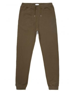Men's Cotton Loopback Track Pant in Military Green