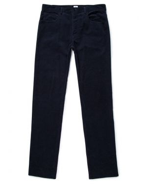 Men's Cotton Corduroy Trousers in Navy