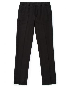Men's Cotton Moleskin Trousers in Nearly Black