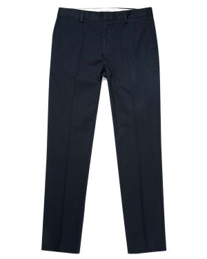 Men's Brushed Cotton Slim Fit Trouser in Navy