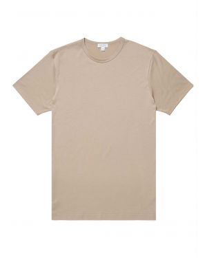Men's Classic Cotton T-Shirt in Taupe