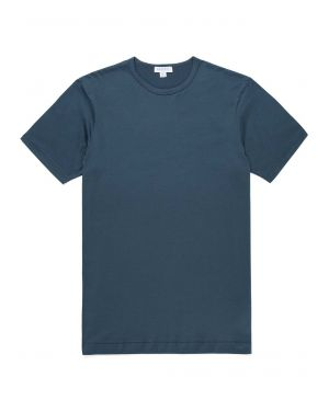 Men's Classic Cotton T-Shirt in Dark Petrol