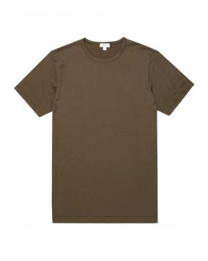 Men's Classic Cotton T-Shirt in Military Green