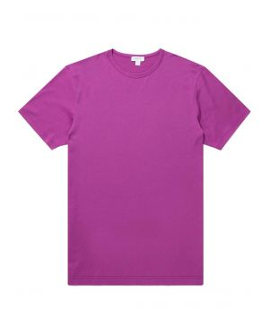 Men's Classic Cotton T-Shirt in Booth Purple