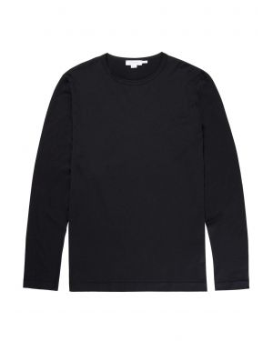 Men's Cotton Long Sleeve T-Shirt in Black