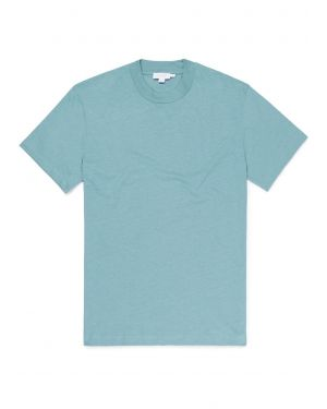 Men's Distressed Cotton Relaxed Fit T-Shirt in Sea Green