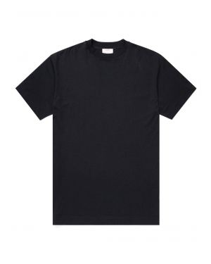 Beams and Sunspel Men's Brushed Cotton Oversized T-Shirt in Black