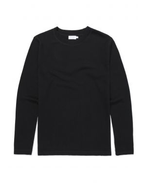 Men's Cotton Cellulock Long Sleeve T-Shirt in Black