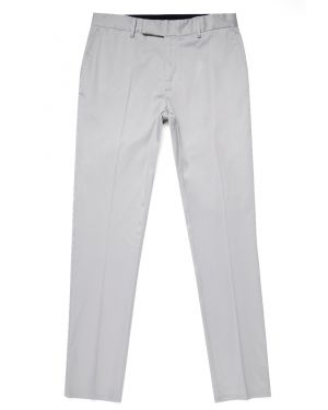 Paul Weller for Sunspel Men's Supima Cotton Straight Leg Trouser in Light Grey
