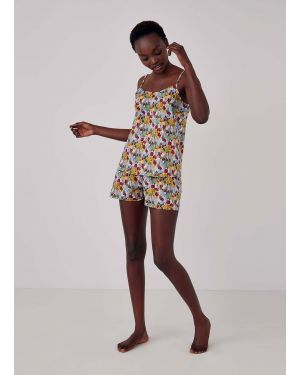 Women's Printed Cotton Boxer Shorts in Liberty Tulips