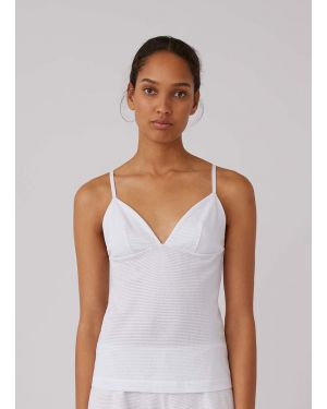 Women's Cellular Cotton Cami in White